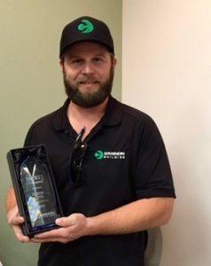 2017 safety award winner justin cote